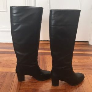 J. Crew Shoes - JCrew black leather pull on riding boots